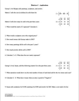 ComboSet Matrix Math