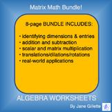Bundle: Matrix Math