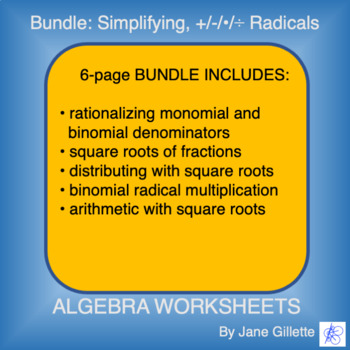 ComboSet: Simplifying, Adding, Subtracting, Multiplying, and Dividing Radicals