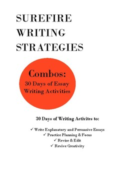 Combos: Essay Writing Activities/Bell Ringers