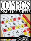 Combos and Number Bond Practice Sheets