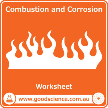 Combustion and Corrosion [Worksheet] by Good Science Worksheets | TpT
