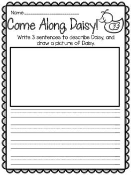 Come Along, Daisy! {Reading Response}