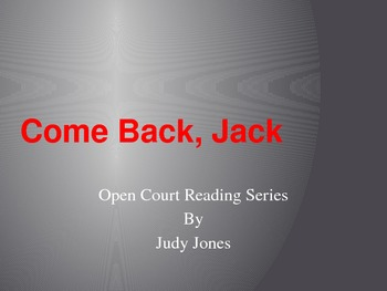 Come Back, Jack Vocabulary Open Court