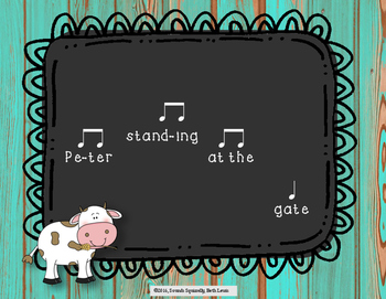 Come, Butter, Come: a folk song for teaching ta, ti-ti, and ta-rest