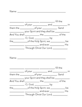 Come Holy Spirit - Prayer Tests