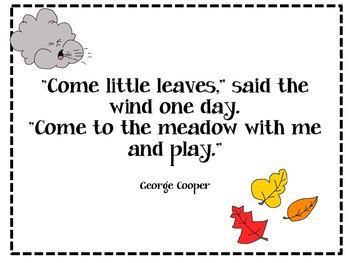 Come Little Leaves: A Writing Activity for Little Learners