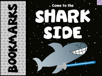 """Star Wars - Come To The """"SHARK"""" Side Bookmarks/Posters (SHARK WEEK)"""
