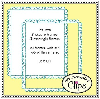 Come Together Glitter Frames - Clip Art