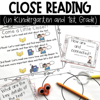 Close Reading in Kindergarten and 1st Grade by Aylin Claahsen | TpT