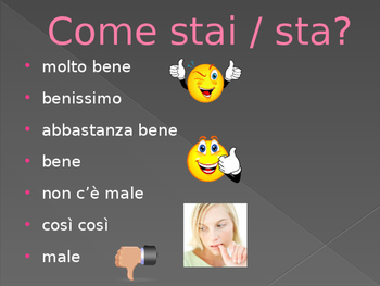 Come stai power point activity