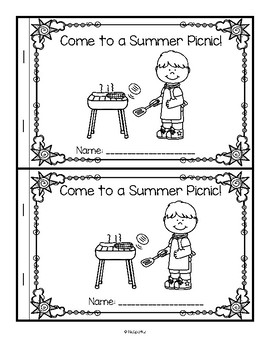 Come to a Summer Picnic - Emergent Reader FREE