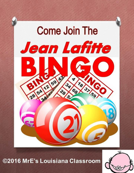Come to the Jean Lafitte BINGO party