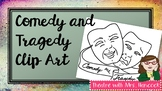Comedy and Tragedy Masks Clip Art