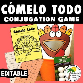 Cómelo Todo_Spanish Conjugation Game_Thanksgiving