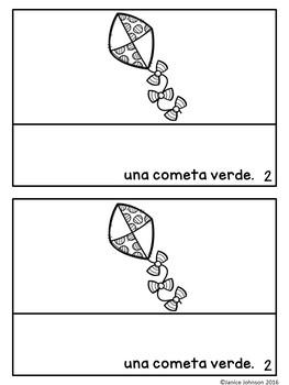 Cometas de Colores Spanish Verb Tener Colors Reader & Build-A-Book