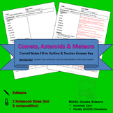 Comets, Asteroids & Meteors Cornell Notes #19