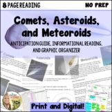 Comets Asteroids Meteoroids Anticipation Guide, Informatio