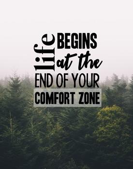 Comfort Zone Poster 11x14