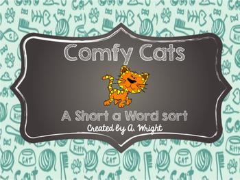 Comfy Cats Short A Word Sort