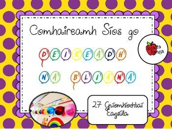 Comhaireamh Síos go Deireadh na Bliana // End of Year Countdown Balloons