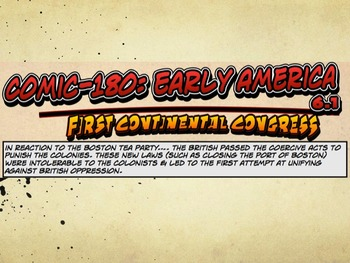 Comic 180: Early America, 6.1 PowerPoint (First Continenta