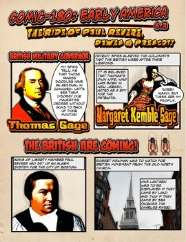 Comic 180: Early America, 6.2 (American Revolution, Paul Revere - Boston Siege)