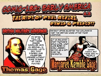 Comic 180: Early America, 6.2 PowerPoint ( American Revolution, Paul Revere)