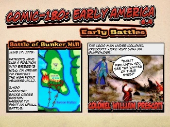 Comic 180: PowerPoint 6.4, Early America Battles of the American Revolution
