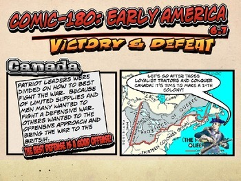 Comic 180 PowerPoint 6.7, Victory/Death in the American Re