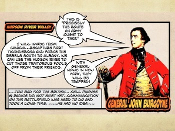 Comic 180 Powerpoint 6.8. Saratoga, Turning Point of the American Revolution