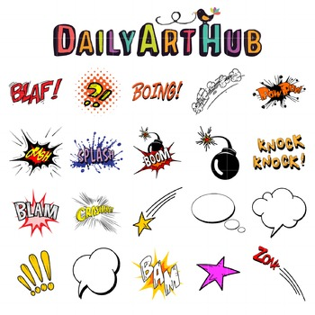 Comic Book Clip Art - Great for Art Class Projects!