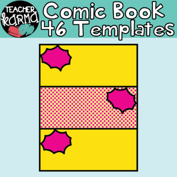 Comic Book / Comic Strip Templates -  46 PCS - Comic Book