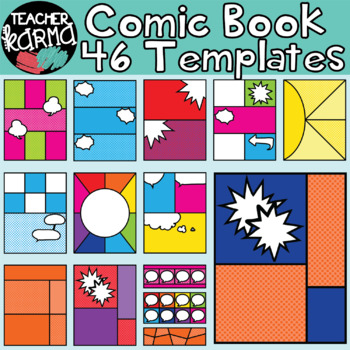 Comic Book / Comic Strip Clipart Templates