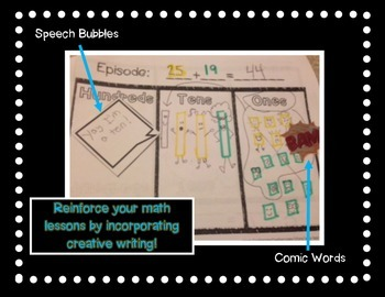 Comic Book Composing Regrouping Addition