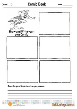 Comic Book -- Creative Writing