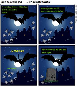 Comic Book-Graphic Math Word Problem (Bat Algebra)
