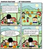 Comic Book-Graphic Math Word Problem (Pumpkin Fractions)