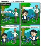 Comic Book-Graphic Word Problem (Bike Rental)