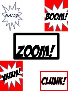 Comic Book Inspired CLIP ART