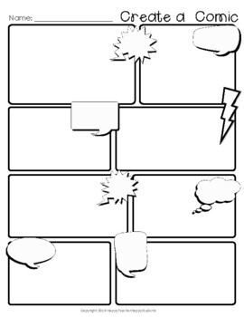 Gratifying image regarding free printable comic strip template