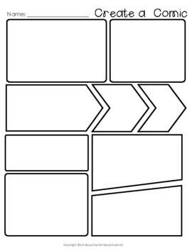 FREE Comic Strip Template (Comic Book Paper)