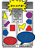 Comic Book Poster: Shape (Element of Art) TypoINCLUDED***