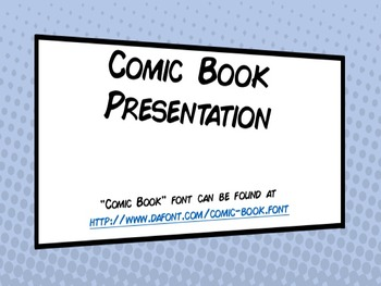 comic book powerpoint presentation template by douglas dinneen tpt