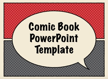 comic book presentation templatestechie teachables | tpt, Presentation templates