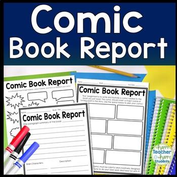comic strip book report template  Comic Book Report Template: Students Design a Comic Strip about their Book!