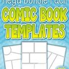 {FLASH DEAL} Comic Book / Strip Templates Mega Bundle Pack — Includes 50 Sheets!