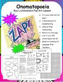 Comic Book Style Onomatopoeia/Roy Lichtenstein Pop Art Lesson (with 3D option)