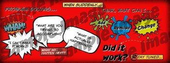 Comic Book Style - Problem Solving Poster