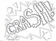 Comic Book Superhero Sound Effect Coloring Pages